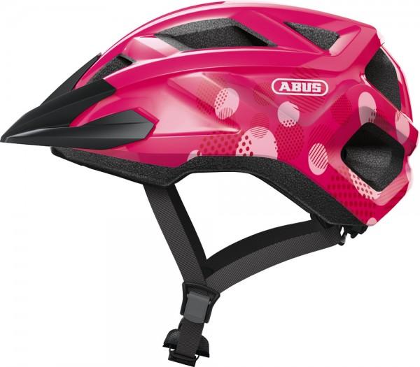 Abus MountZ Fahrradhelm, Kinder- und Jugendhelm, M, fuchsia pink, AS Größe: M, Kopfumfang: 52 - 57 c