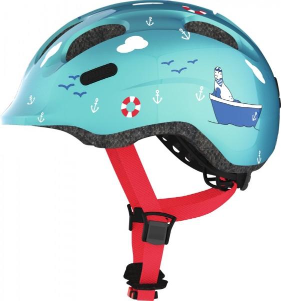 Abus Smiley 2.0 Fahrradhelm, Baby- und Kleinkinderhelm, M, turquoise sailor, AS Größe: M, Kopfumfang