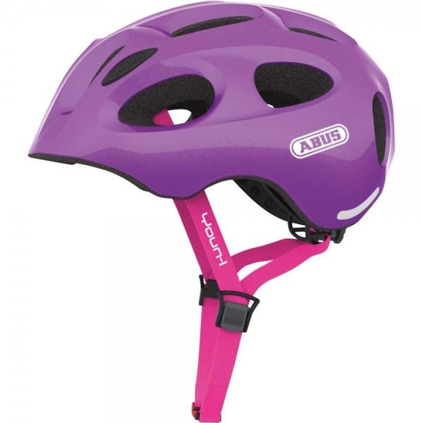 Abus Youn-I Fahrradhelm, Kinder- und Jugendhelm, S, sparkling purple, AS Größe: S, Kopfumfang: 48 -