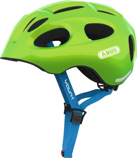 Abus Youn-I Fahrradhelm, Kinder- und Jugendhelm, M, sparkling green, AS Größe: M, Kopfumfang: 52 - 5
