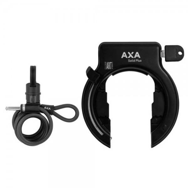AXA Rahmenschloss Solid Plus schwarz inkl. Newton PL150 Seilschlaufen