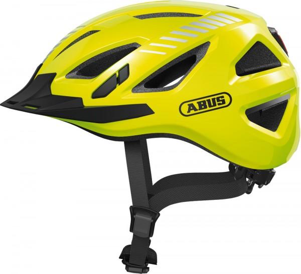 Abus Urban-I 3.0 Signal Fahrradhelm, Erwachsenen- und Jugendhelm, M, signal yellow AS Größe: M, Kopf