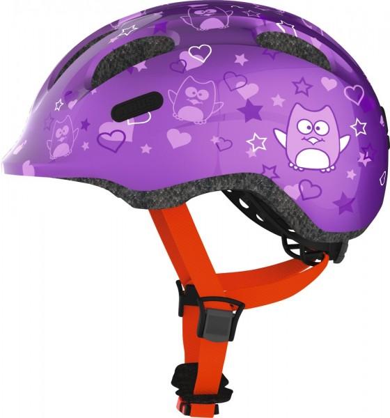Abus Smiley 2.0 Fahrradhelm, Baby- und Kleinkinderhelm, S, purple star, AS Größe: S, Kopfumfang: 45