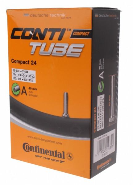 Continental, Bereifung, Schlauch, Compact 24, 32-507/47-544 (AV 40mm), Gewicht: ca. 210g, (Herst.-Nr
