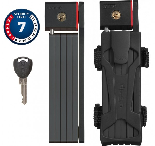 Abus Faltschloss uGrip Bordo 5700/80 black, 11273 mit Schlüssel, Kat. 7