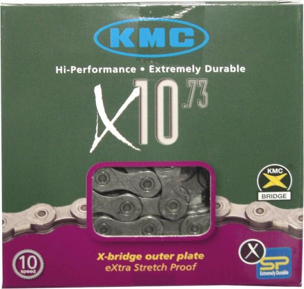 """KMC Kette """"X10-73"""" SB-verpackt, 1/2 x 11/128"""", 10-fach 5,88 mm, werkzeuglose Montage, X-SP Technolog"""