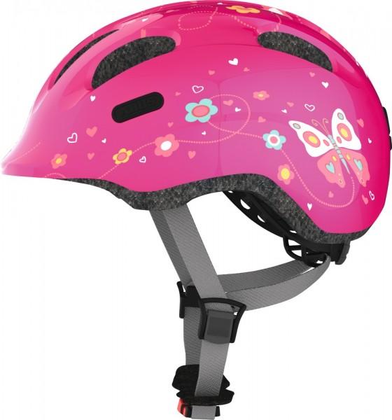 Abus Smiley 2.0 Fahrradhelm, Baby- und Kleinkinderhelm, M, pink butterfly, AS Größe: M, Kopfumfang: