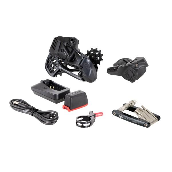 """SRAM Upgrade-Kit """"GX Eagle AXS"""" Bestehend aus: Schaltwerk (0.347.071/3), Schalter (0.347.069/7), Akk"""