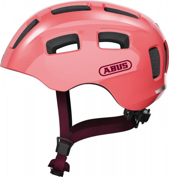 Abus Youn-I 2.0 Fahrradhelm, Kinder- und Jugendhelm, M, living coral, AS Größe: M, Kopfumfang: 52 -