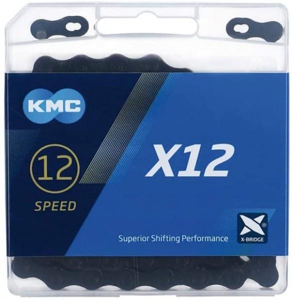 KMC, Kette, E-Bike, e12 schwarz Tech, für 12-fach, 130-Glieder, Farbe: schwarz, Bosch und andere 12-