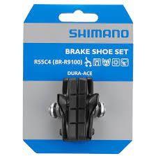 Shimano Dura Ace BR-9100 Bremsgummi, Cartridge R55C4 mit Schrauben (Paar), AS Rennrad, Y-8L298050 VE