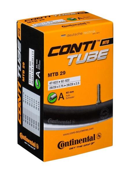 """Schlauch Conti MTB 29, 28/29 x 1.75-2.5"""", AV, AS 47/62-622, Auto Schrader Ventil 40mm, 0182171"""
