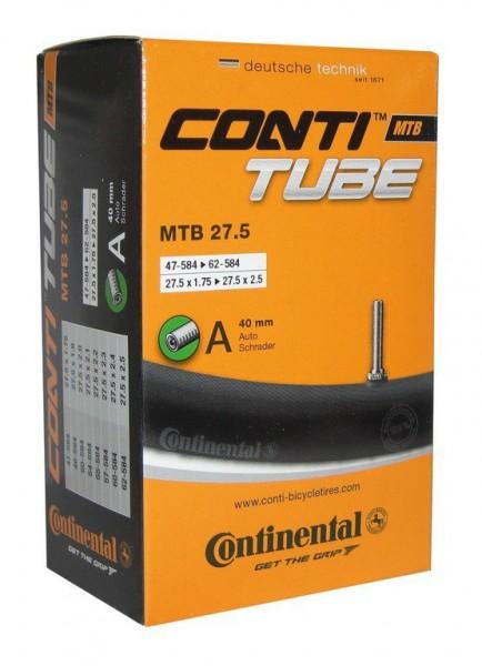"""Schlauch Conti MTB 27.5, 27.5 x 1.75-2.5"""", AV, AS 47/62-584, Auto Schrader Ventil 40mm, 0182331"""