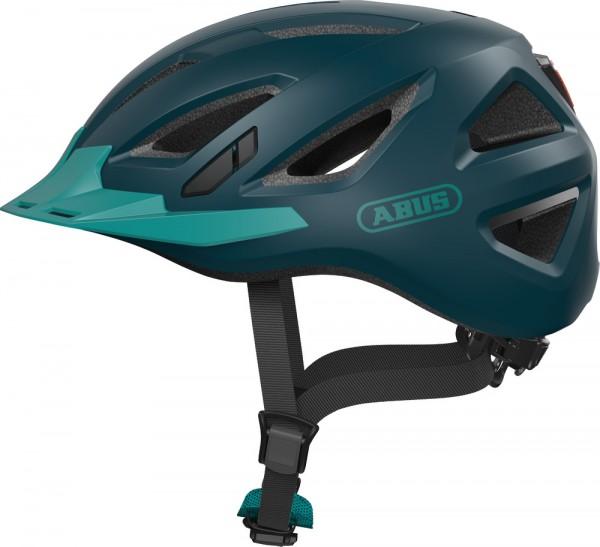 Abus Urban-I 3.0 Fahrradhelm, Erwachsenen- und Jugendhelm, L, core green AS Größe: L, Kopfumfang: 56