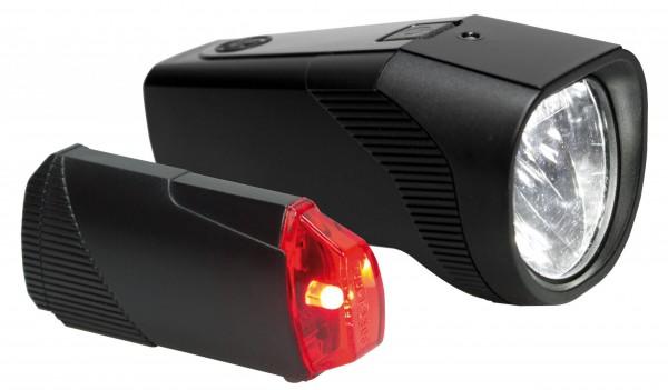 TRELOCK TL 30-FB/01 RB Set Batterielichtset schwarz, vorne + hinten