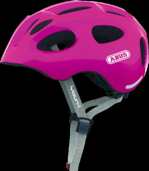 Abus Youn-I Fahrradhelm, Kinder- und Jugendhelm, M, sparkling pink, AS Größe: M, Kopfumfang: 52 - 57