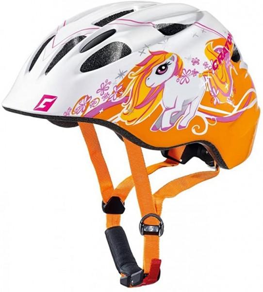 Fahrradhelm Cratoni Akino (Kid) Gr. S (49-53cm) Pony weiß/orange glanz