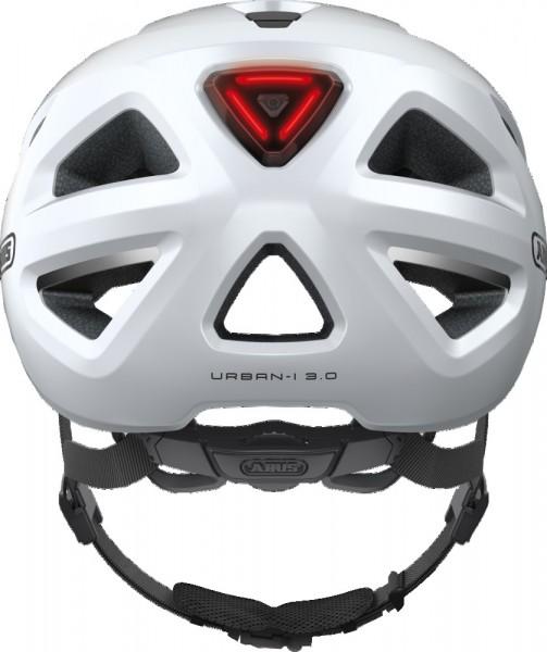 Abus Urban-I 3.0 Fahrradhelm, Erwachsenen- und Jugendhelm, XL, polar white AS Größe: XL, Kopfumfang: