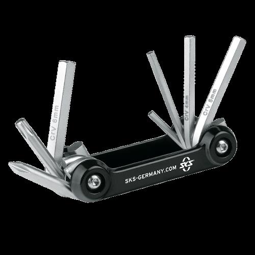 SKS Kompakt- Werkzeug TOM 7 inkl. Tasche, Chrome Vanadium 88g, 11235