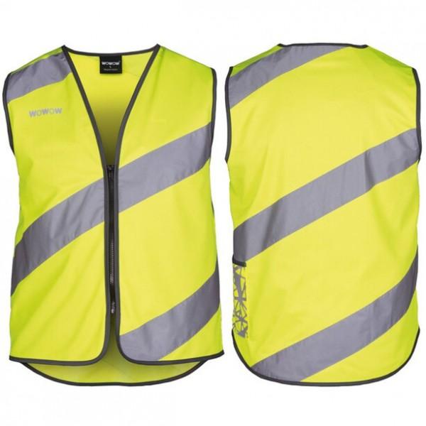 Sicherheitsweste Wowow für Erwachsene gelb mit Reflexstr u. Klettverschl. Gr.L