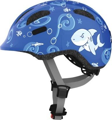 Abus Smiley 2.0 Fahrradhelm, Baby- und Kleinkinderhelm, M, blue sharky, AS Größe: M, Kopfumfang: 50