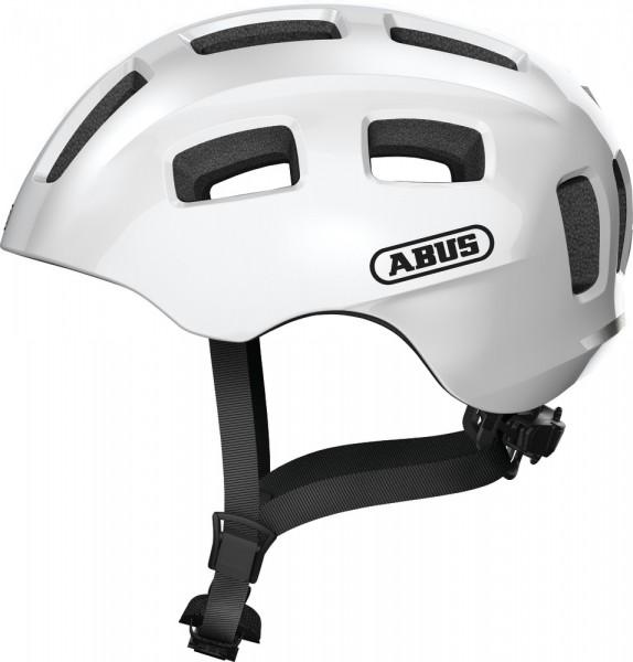 Abus Youn-I 2.0 Fahrradhelm, Kinder- und Jugendhelm, M, pearl white, AS Größe: M, Kopfumfang: 52 - 5