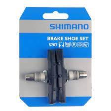 """SHIMANO Bremsschuh """"Deore"""" S70T Für V-Brake, SB-verpackt Schraubbefestigung, passend für BR-M510, BR"""