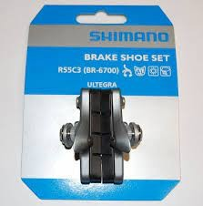 Shimano Ultegra BR-6700 Bremsgummi, Cartridge R55C3 mit Schrauben (Paar), AS Rennrad, Y-8G698080 VE